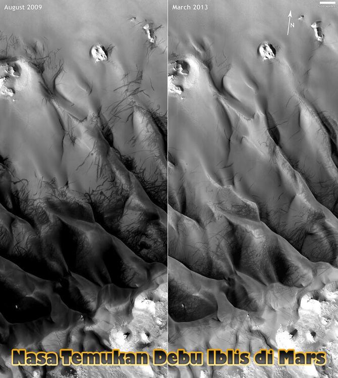 Nasa Temukan Debu Iblis di Mars